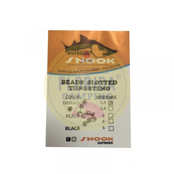 Tungsten Beads 2.5 mm Snooks