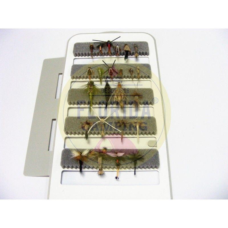 Combo de moscas para la patagonia 24 unidades + Caja 5