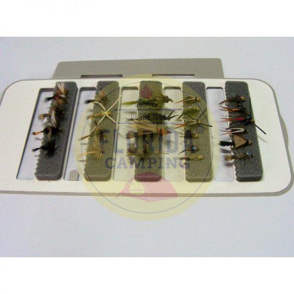 Combo de moscas para la patagonia 24 unidades + Caja 4