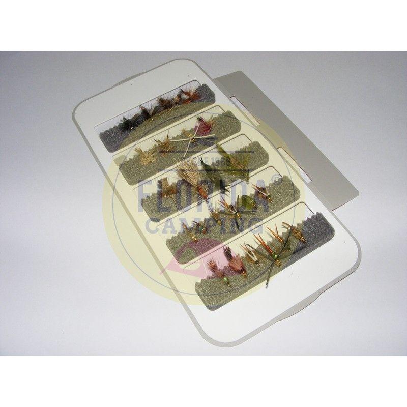 Combo de moscas para la patagonia 24 unidades + Caja 3