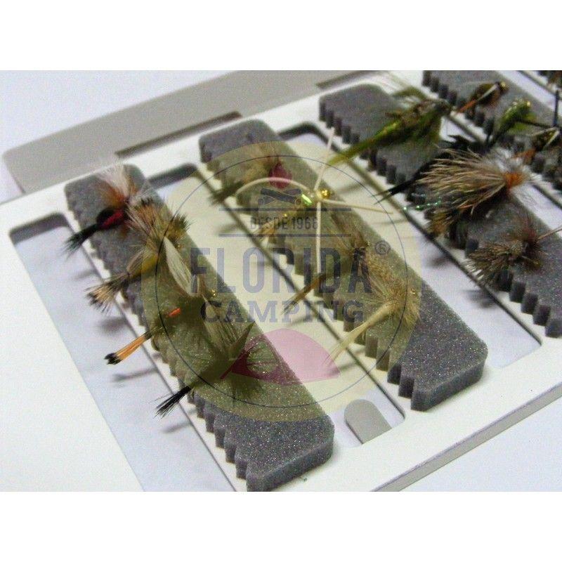 Combo de moscas para la patagonia 24 unidades + Caja 6