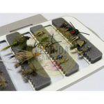 Combo de moscas para la patagonia 24 unidades + Caja