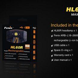 Linterna mod.HL60R Recargable marca Fenix