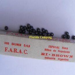 Balines Esféricos cal. 4,5mm marca FARAC
