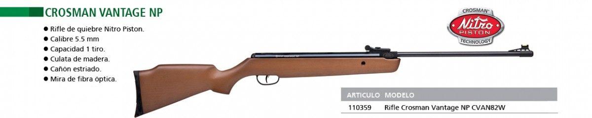 Rifle de aire comprimido marca Crosman mod.Vantage NP